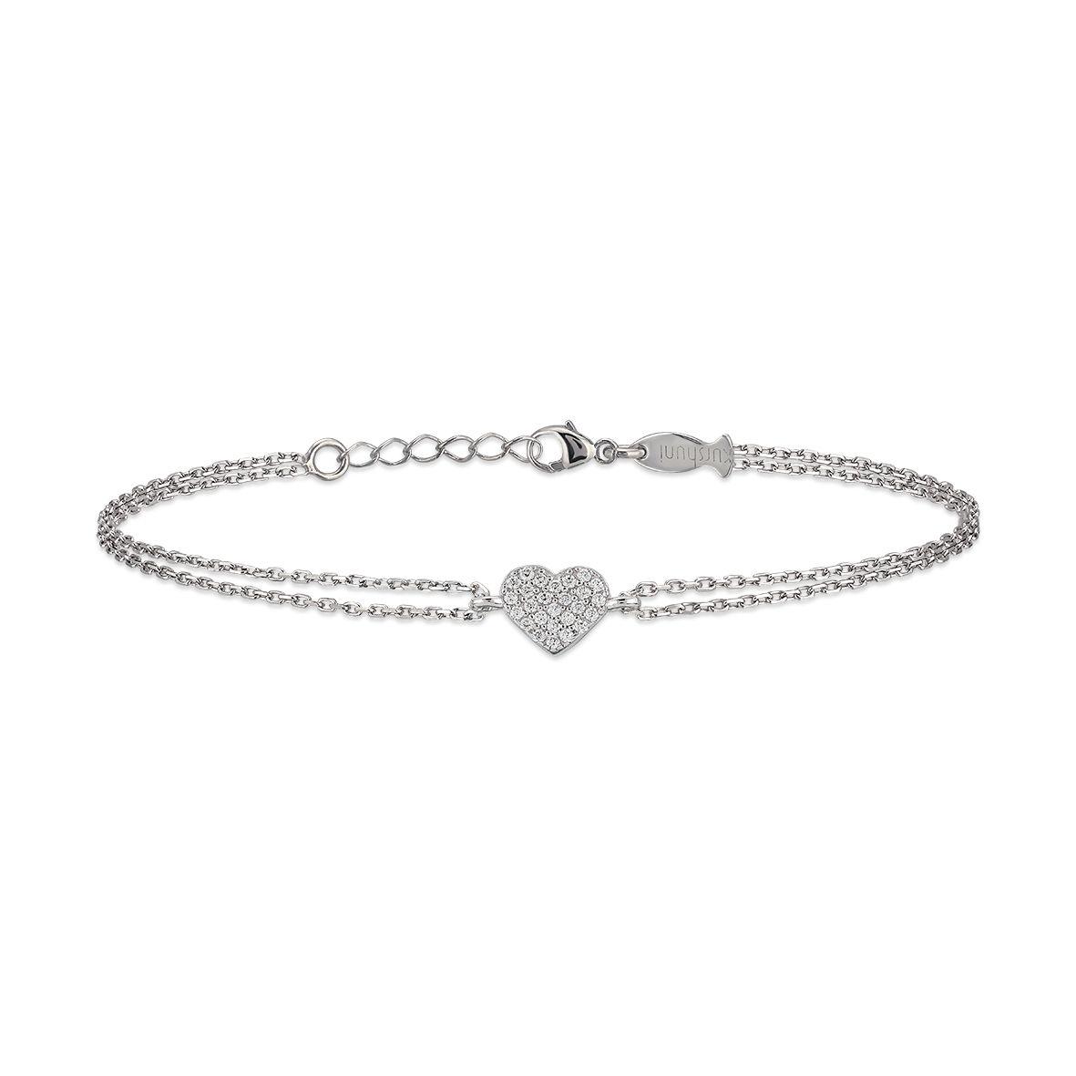 Heart, sterling silver bracelet Silver Kurshuni