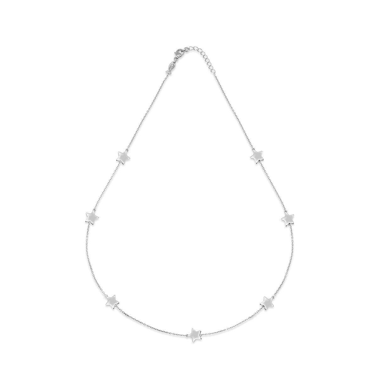 Stars, sterling silver necklace Silver Kurshuni