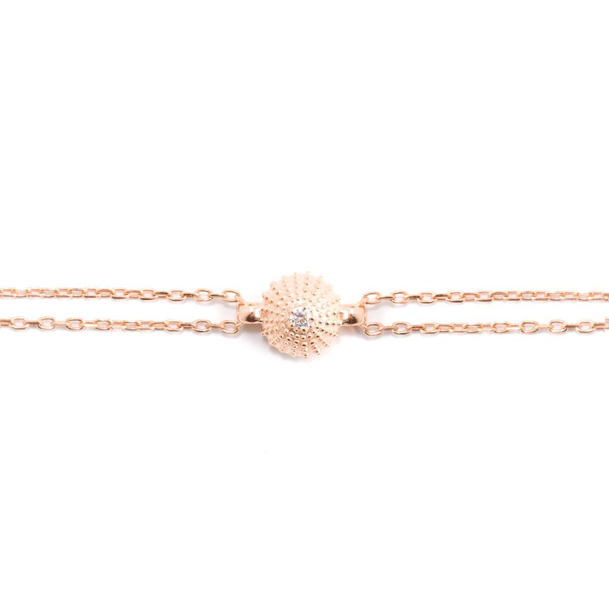 Mini Sea Urchin, sterling silver bracelet Rosegold Kurshuni