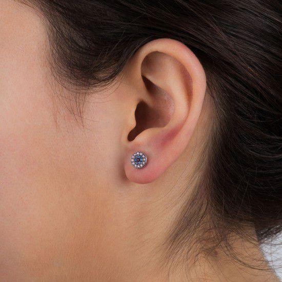 Nazar, sterling silver earrings Rosegold Kurshuni