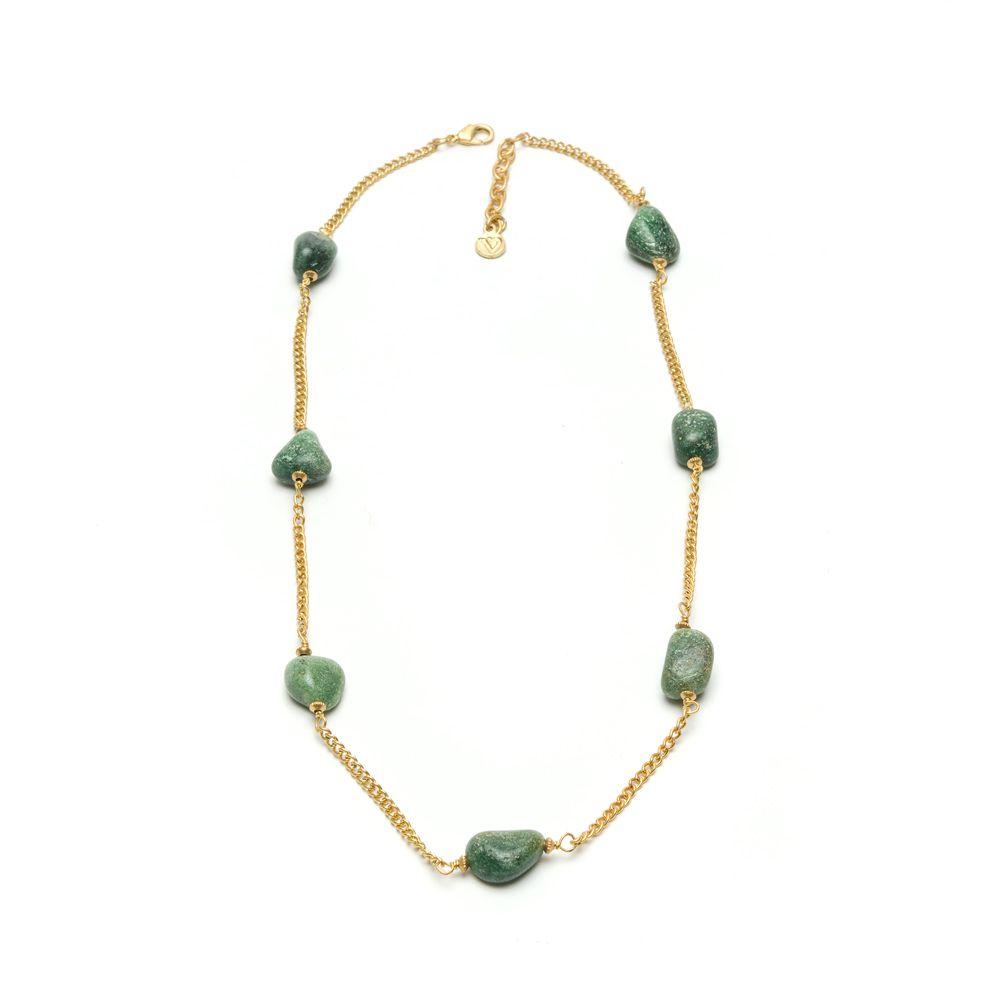Green agate choker necklace Green VestoPazzo