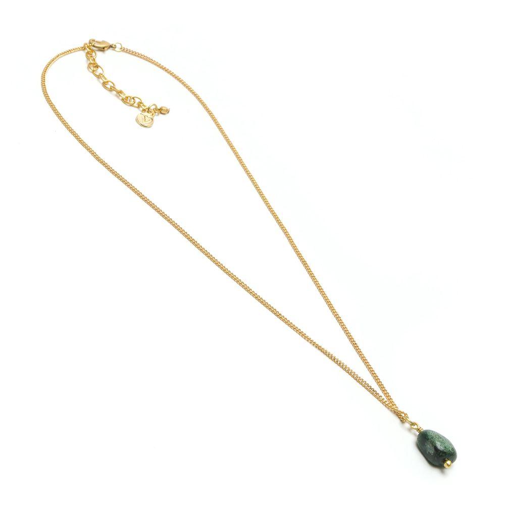 Green agate pendant necklace Green VestoPazzo