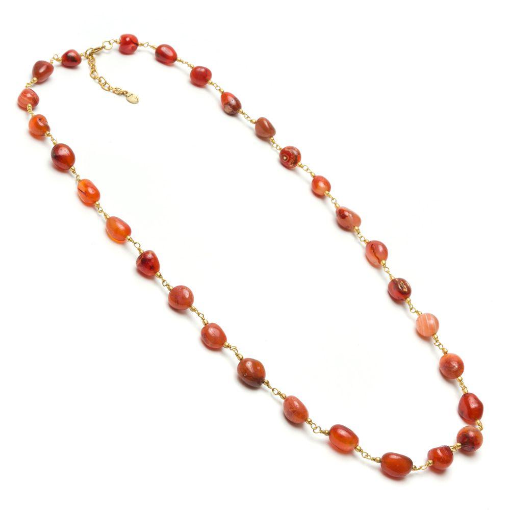 Carnelian stones necklace Brown VestoPazzo