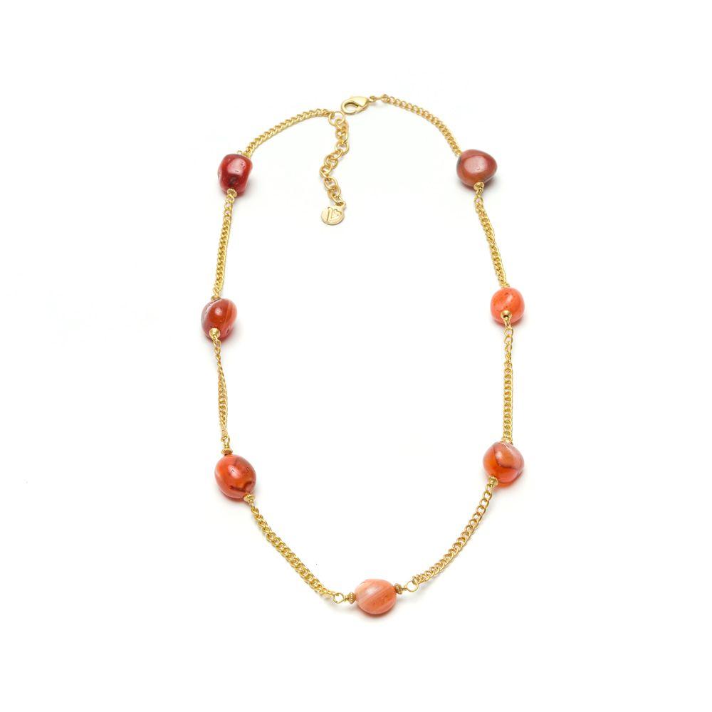 Carnelian choker necklace Brown VestoPazzo