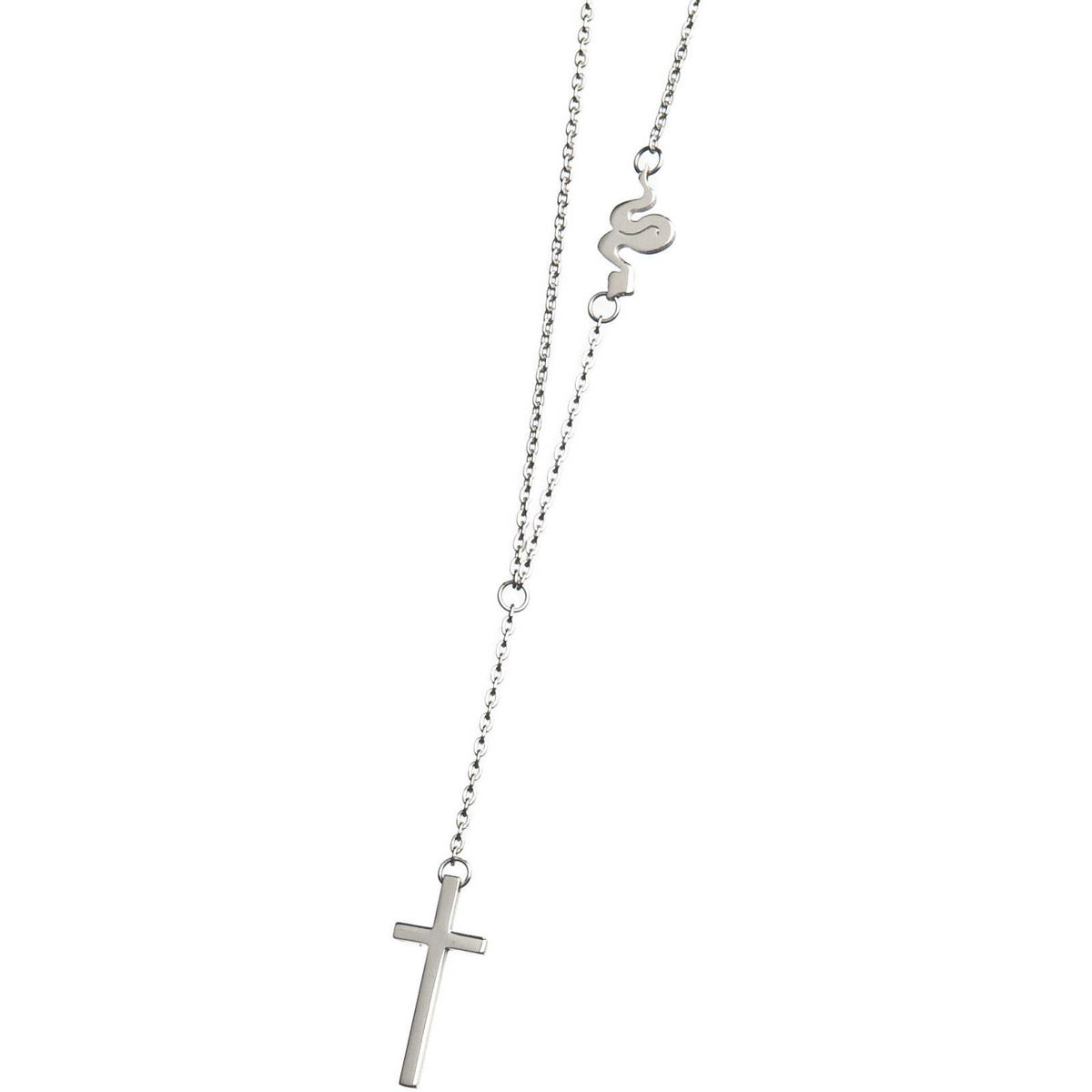 Y cross necklace Steel Marlù