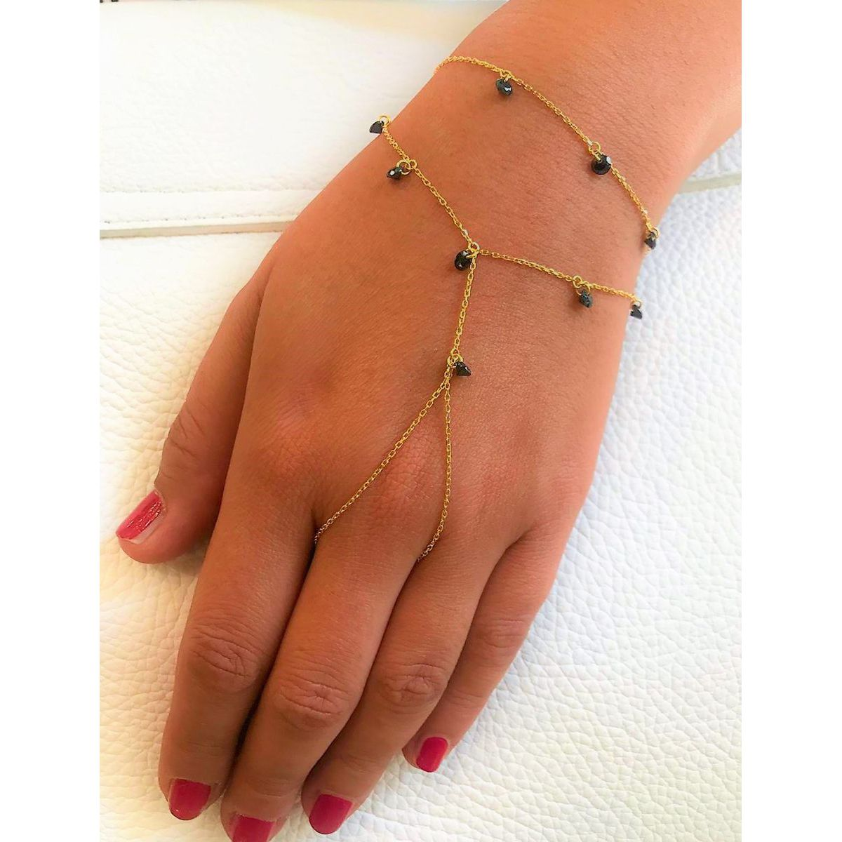 Shining Dots Shahmaran, handchain Gold Kurshuni
