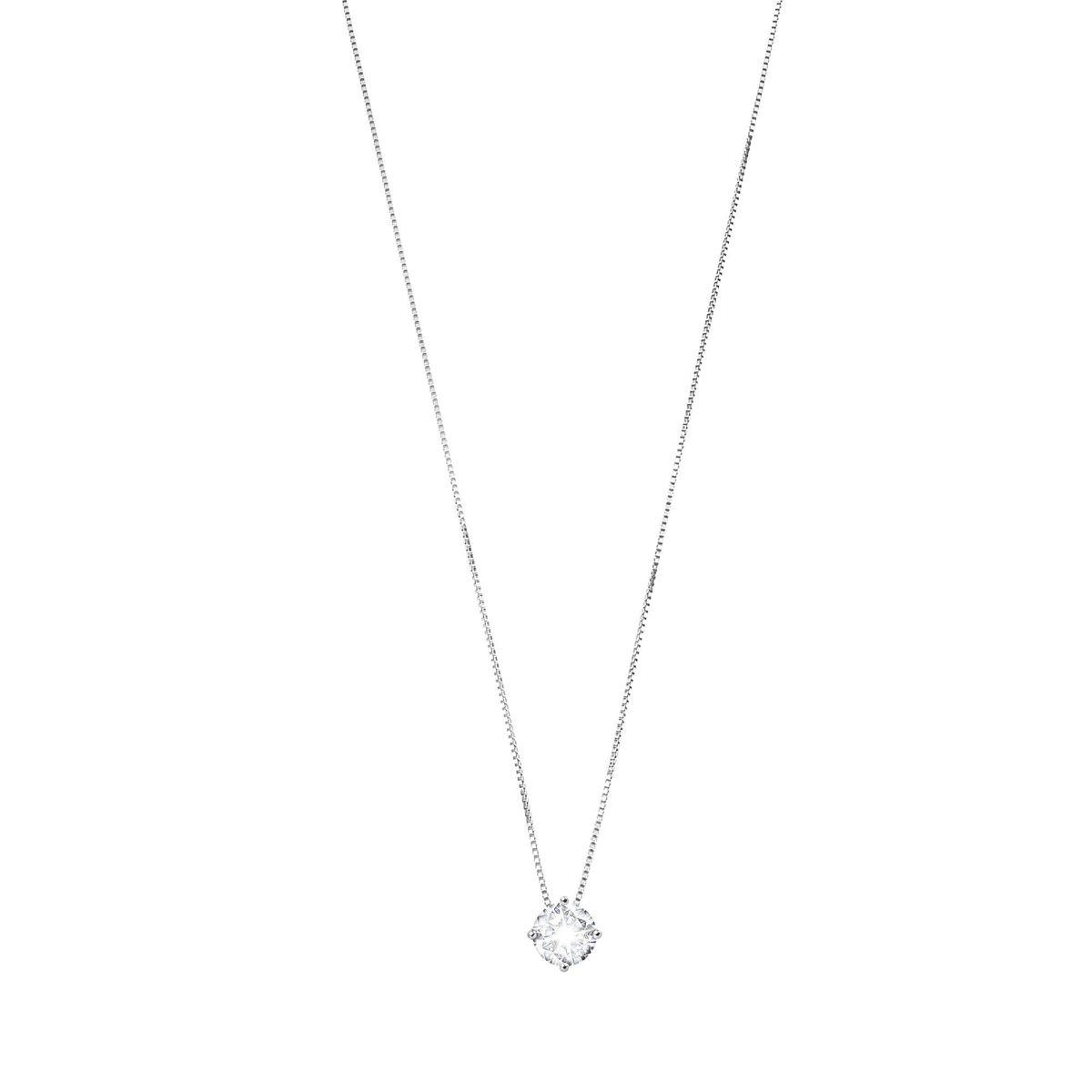 4 mm zirconia, silver necklace White BRASS Gioielli