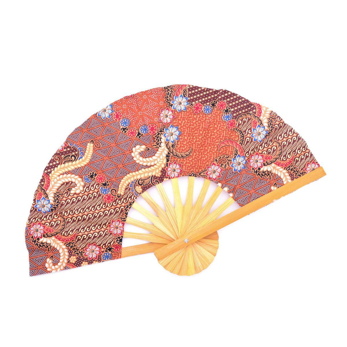 A batik Fan Orange BRASS Workshop