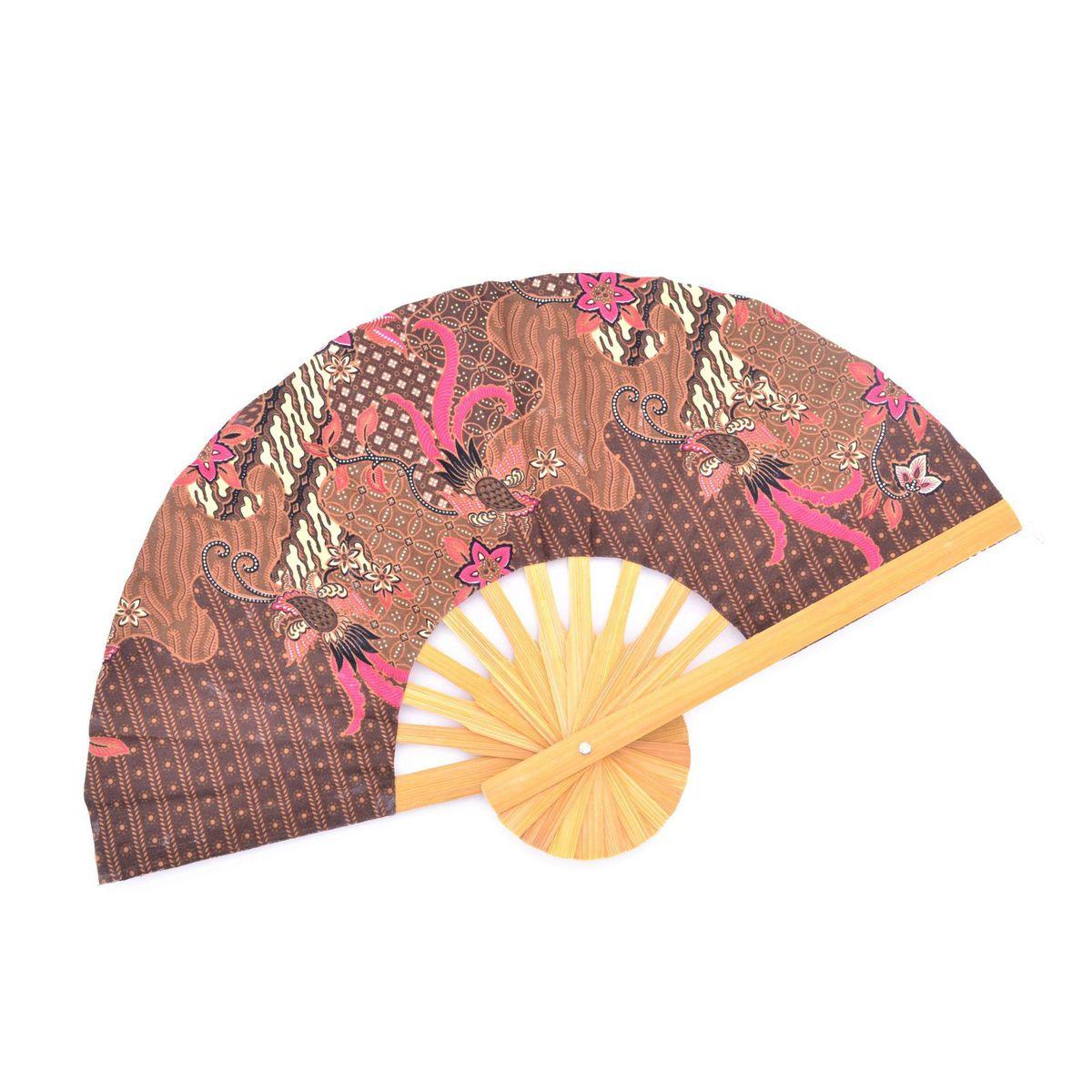 B batik Fan Brown BRASS Workshop