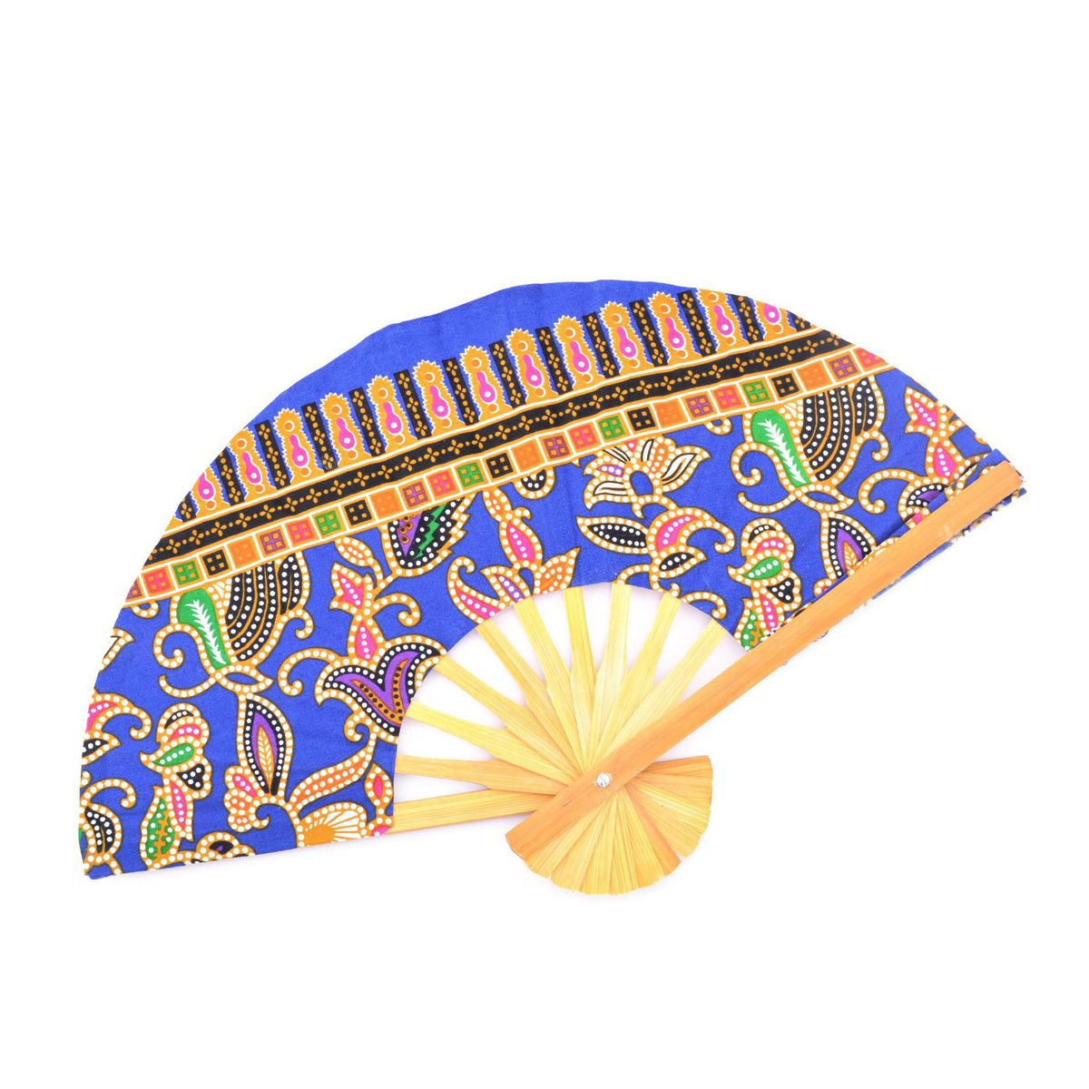 C batik Fan Blue BRASS Workshop