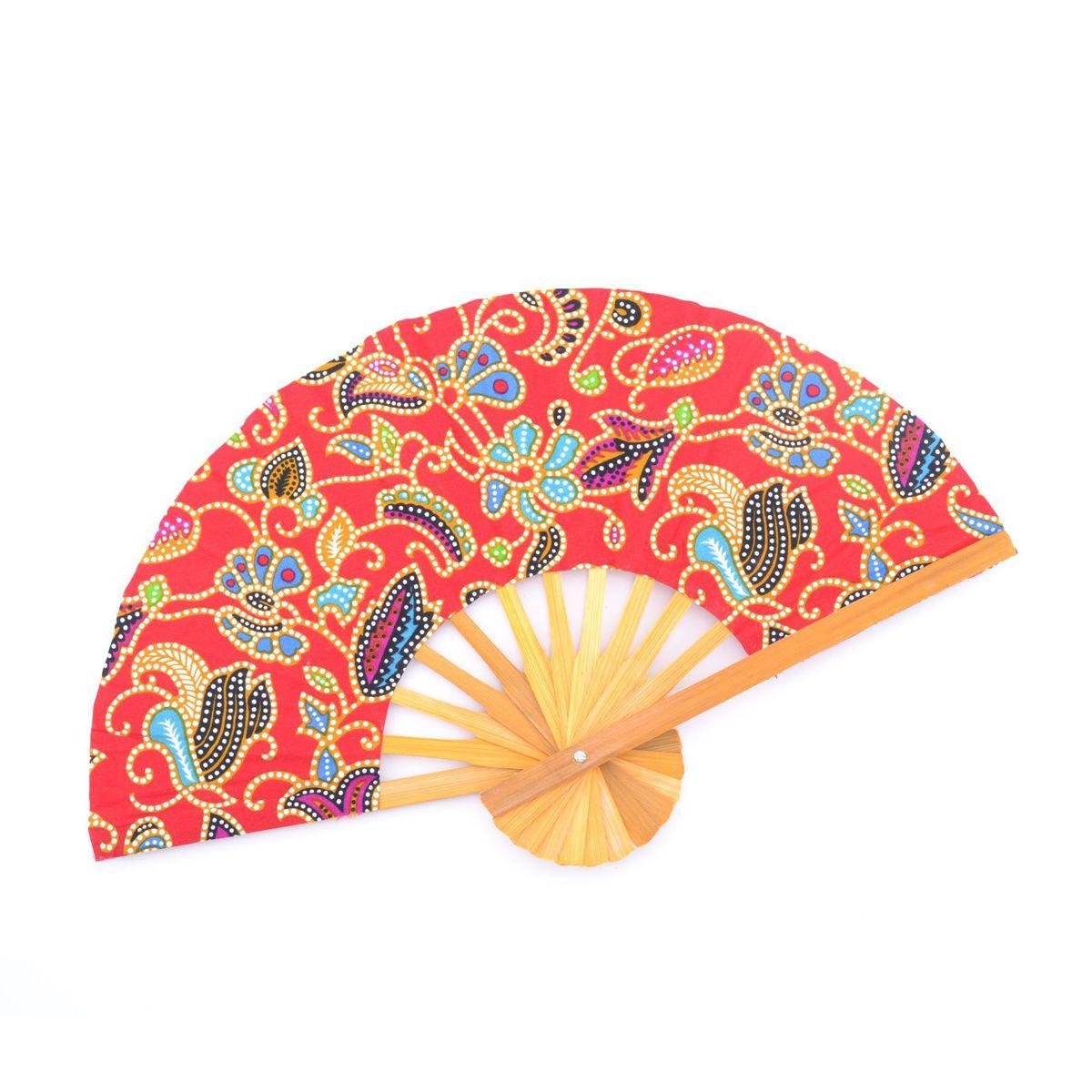 D batik Fan Red BRASS Workshop