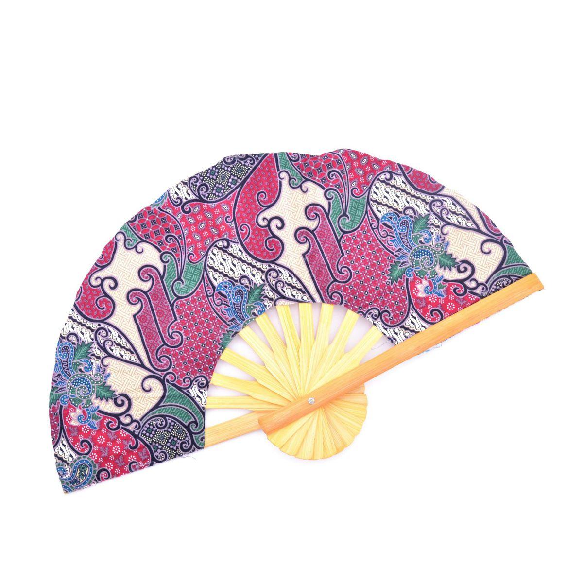 E batik Fan Purple BRASS Workshop