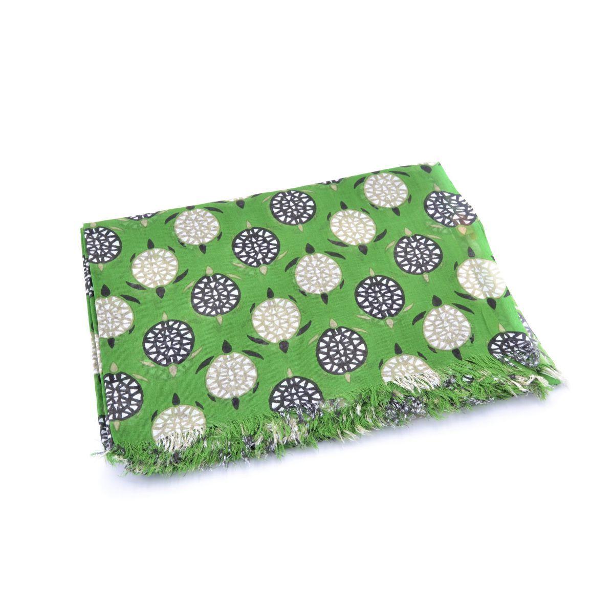 Turtle, cotton pareo Green BRASS Workshop