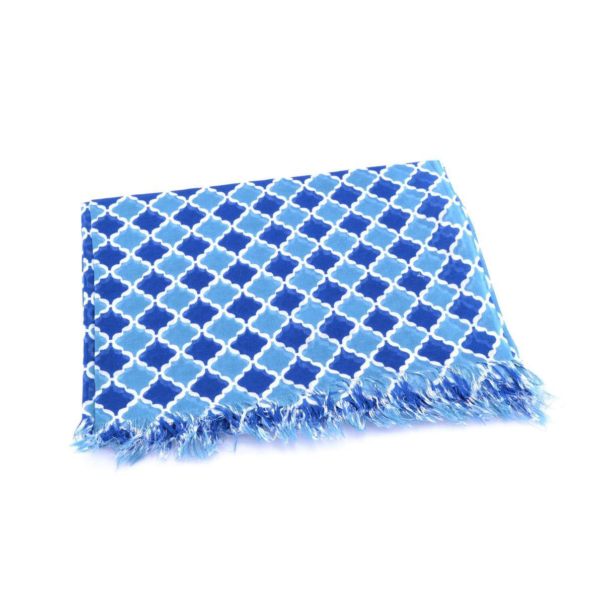 Rom, cotton Pareo Blue BRASS Workshop