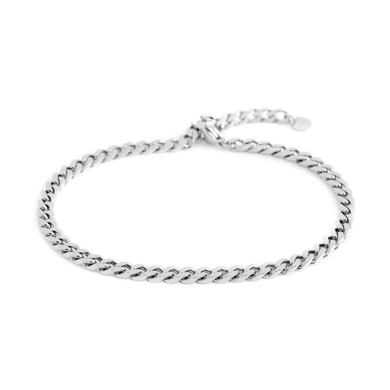 Curb chain, Steel Anklet Steel Marlù