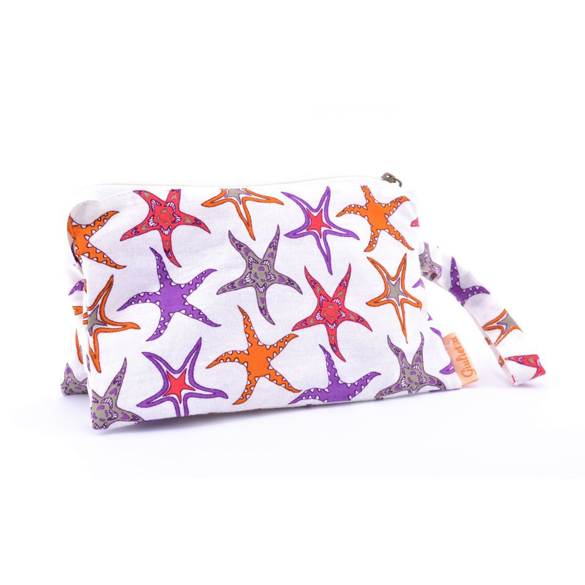 Starfish, cotton Pochette Orange BRASS Workshop