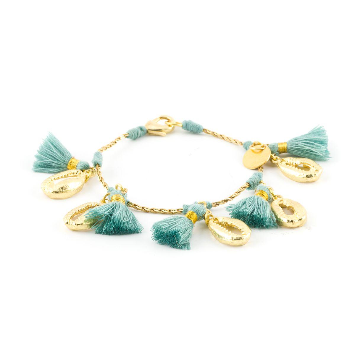 Tassels & Shell, bracelet Green House Of Tuhina