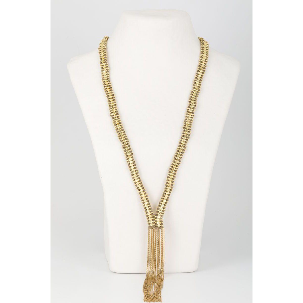 Falak fringes necklace Gold House Of Tuhina