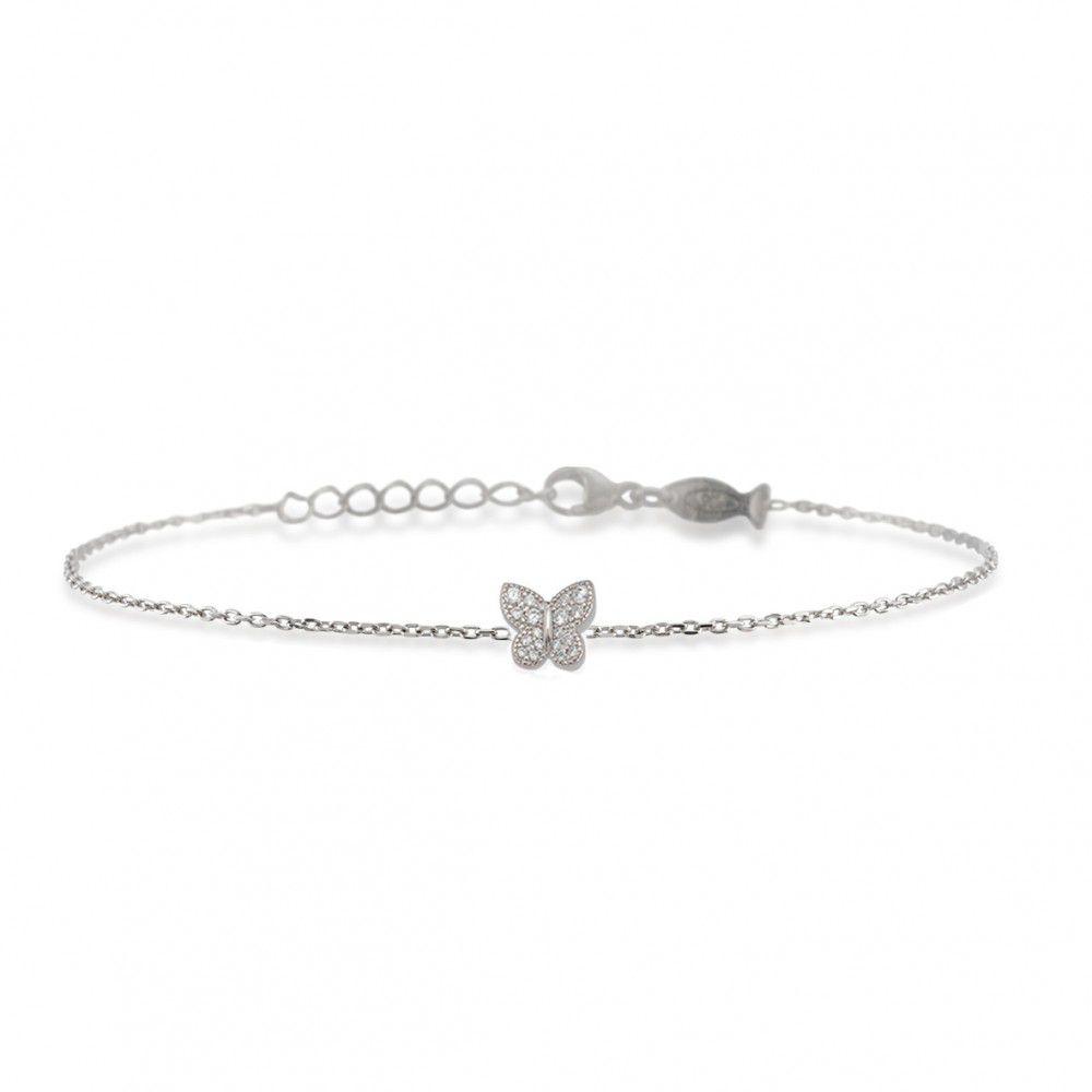 Butterfly, sterling silver bracelet Silver Kurshuni