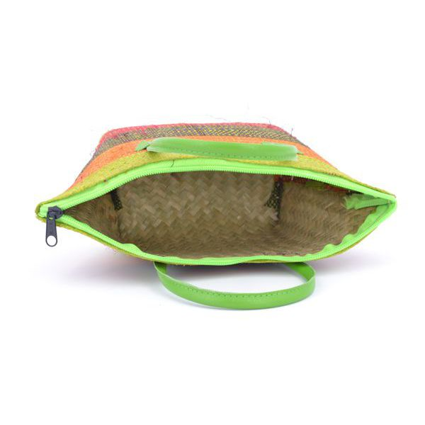 2. Rafia mini trap bag Green VestoPazzo