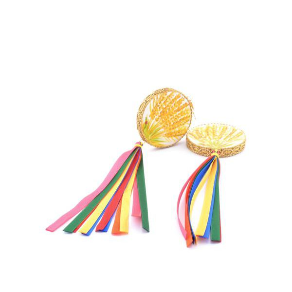 2. Mimose, Tamburine Earrings Yellow Tataratà Bijoux