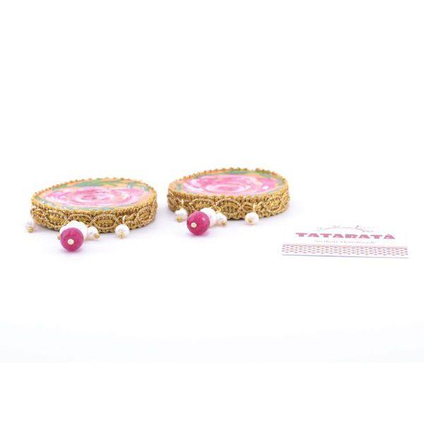 2. Santa Rosalia earrings Fucsia Tataratà Bijoux