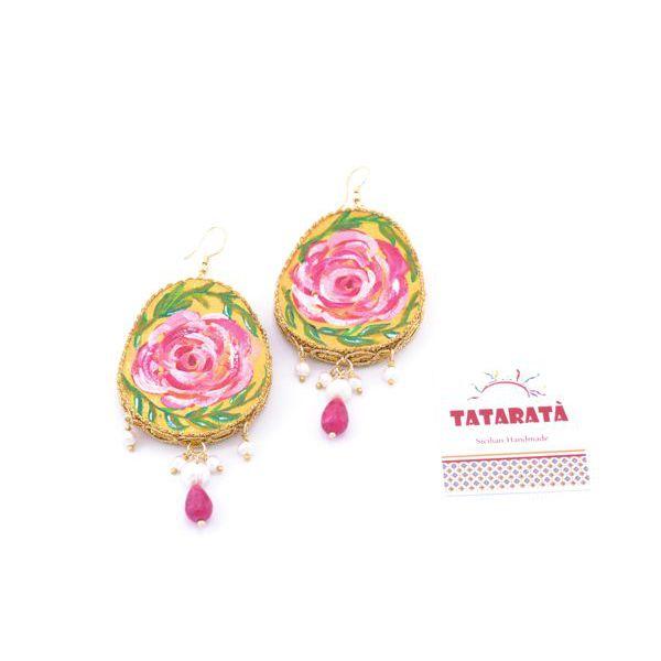 1. Santa Rosalia earrings Fucsia Tataratà Bijoux