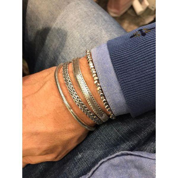 2. Snake 4 mm, 925 silver bracelet Silver BRASS Gioielli
