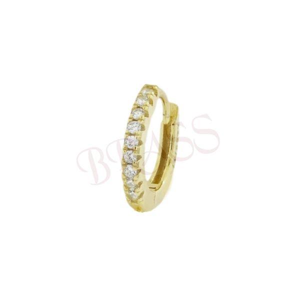Glint, 925 silver circle earring Gold BRASS Gioielli