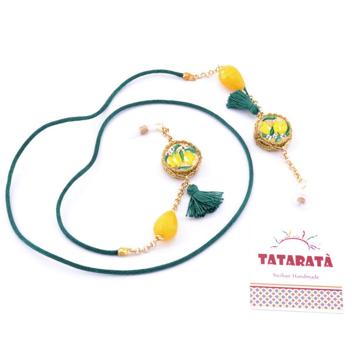 Tambourine, glasses holder chain Yellow Tataratà Bijoux