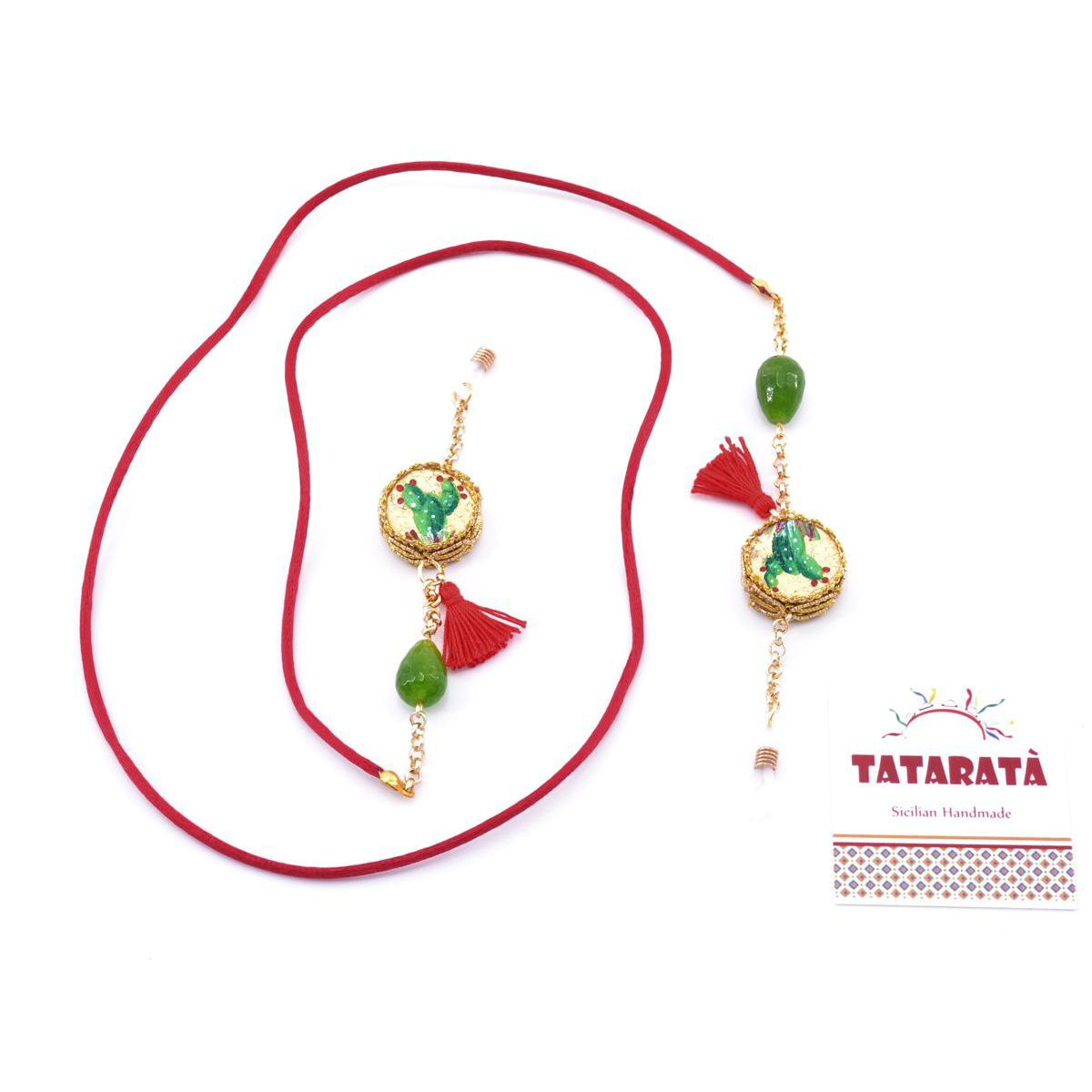 Tambourine, glasses holder chain Red Tataratà Bijoux
