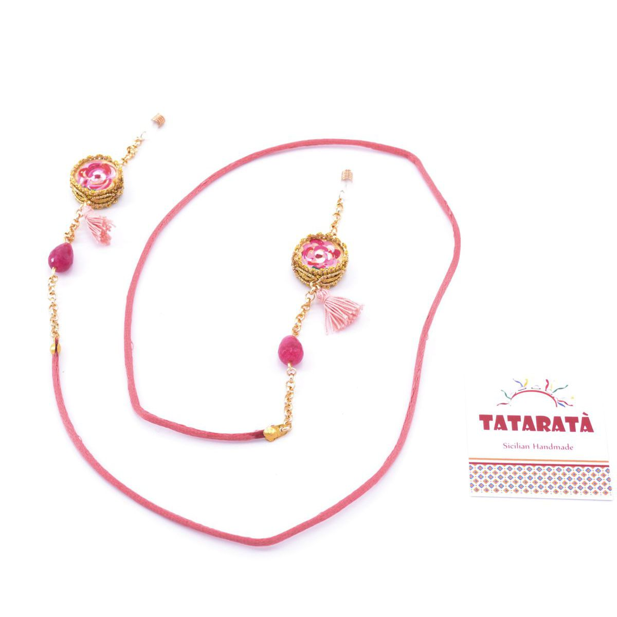 Tambourine, glasses holder chain Pink Tataratà Bijoux