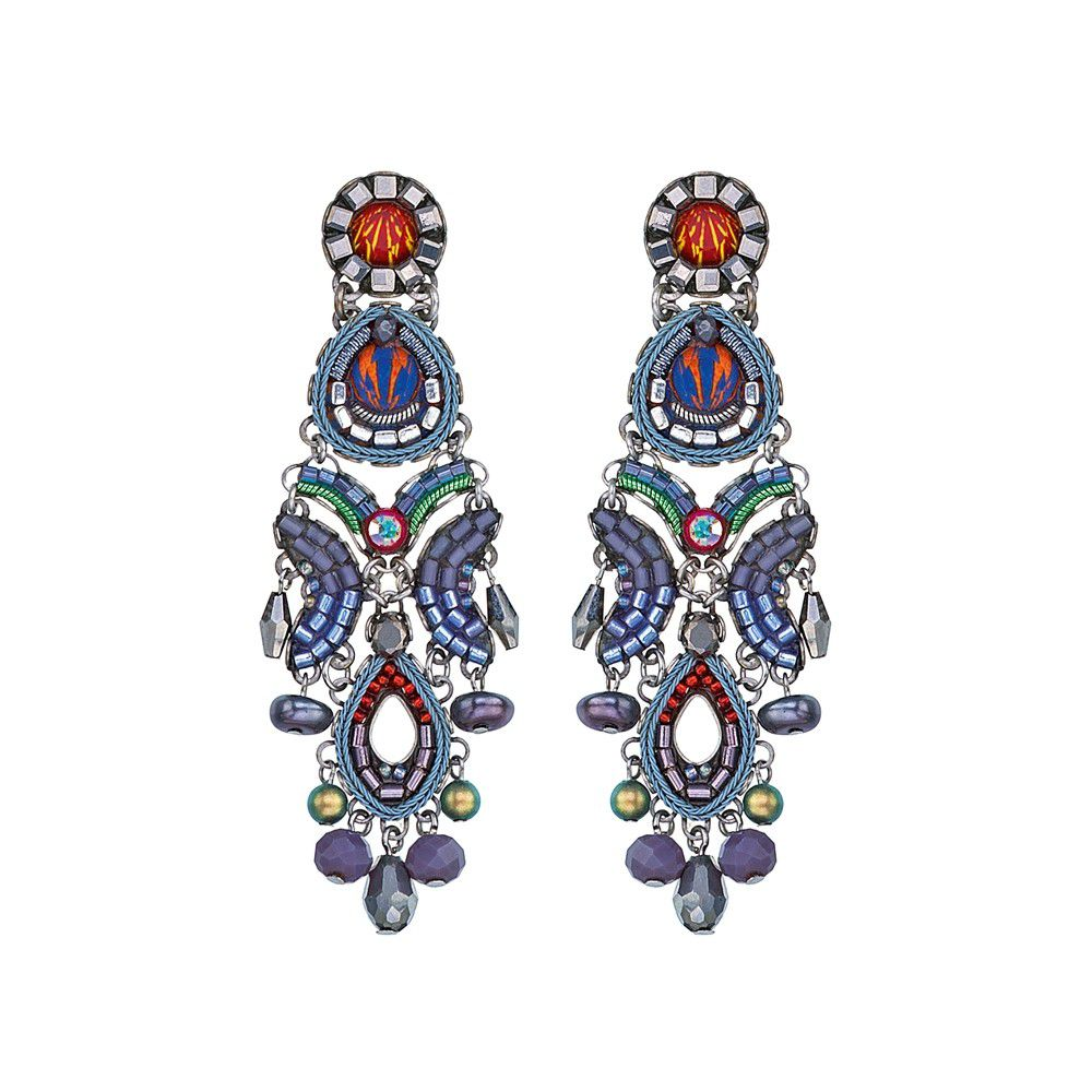 Coral Reef, Abigail Earrings Purple AyalaBar