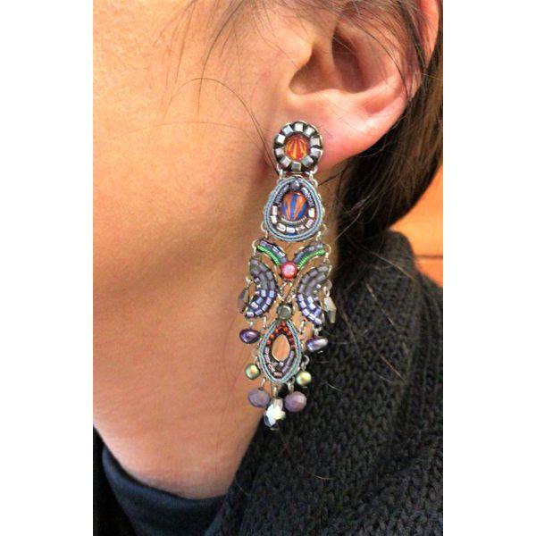 Coral Reef, Abigail Earrings Purple AyalaBar