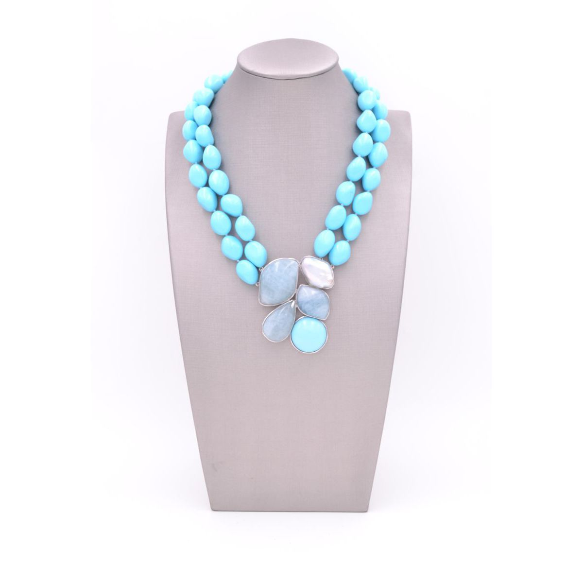 AQUAMARINE AND TURQUOISE CHOKER Turquoise Della Rovere