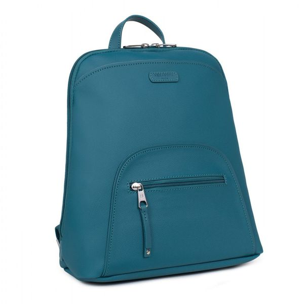 1. Synthetic A4 backpack with Tablet pocket Blue petrol Hexagona