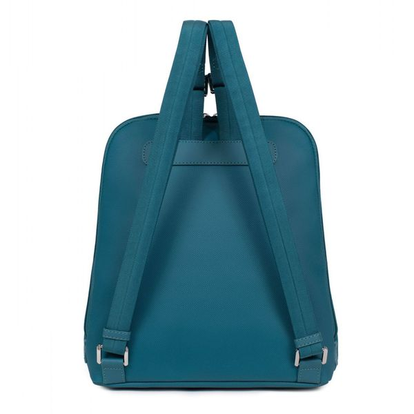 2. Synthetic A4 backpack with Tablet pocket Blue petrol Hexagona