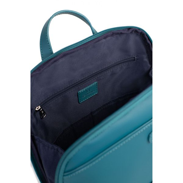 3. Synthetic A4 backpack with Tablet pocket Blue petrol Hexagona