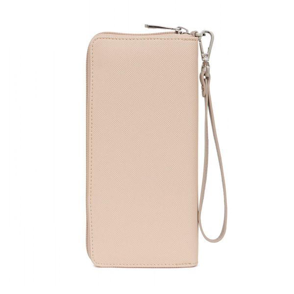 3. Faux leather wallet with wrist strap Pink Hexagona