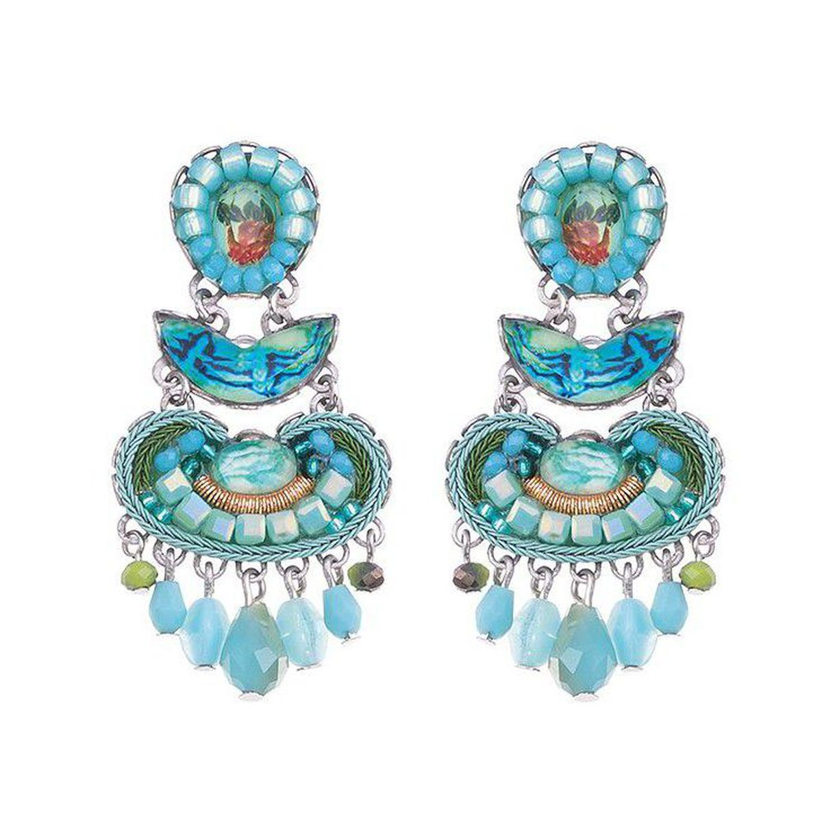 1. Clear water earrings Light blue AyalaBar