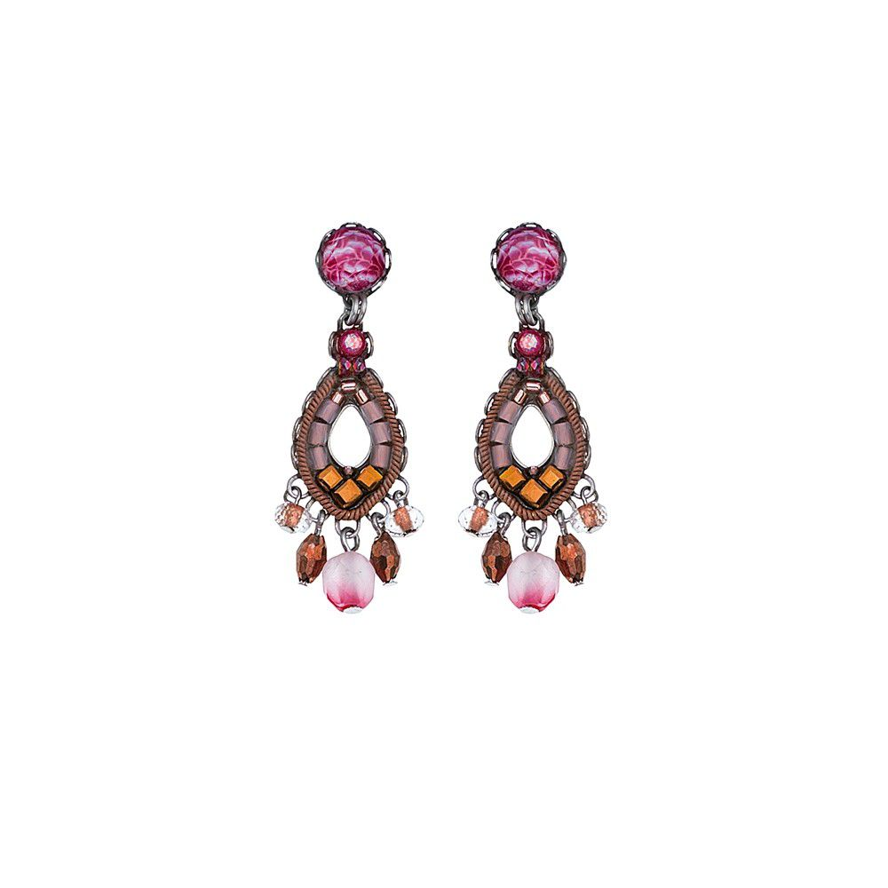 Secret Cave, Sophia Earrings Pink AyalaBar