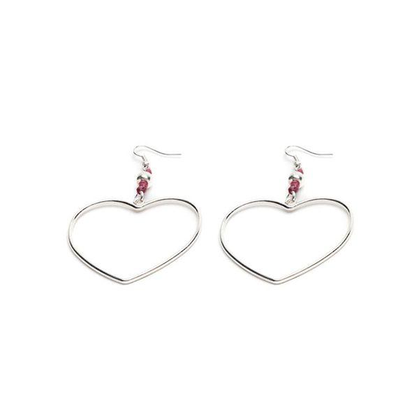 1. Macrame heart earrings Red VestoPazzo