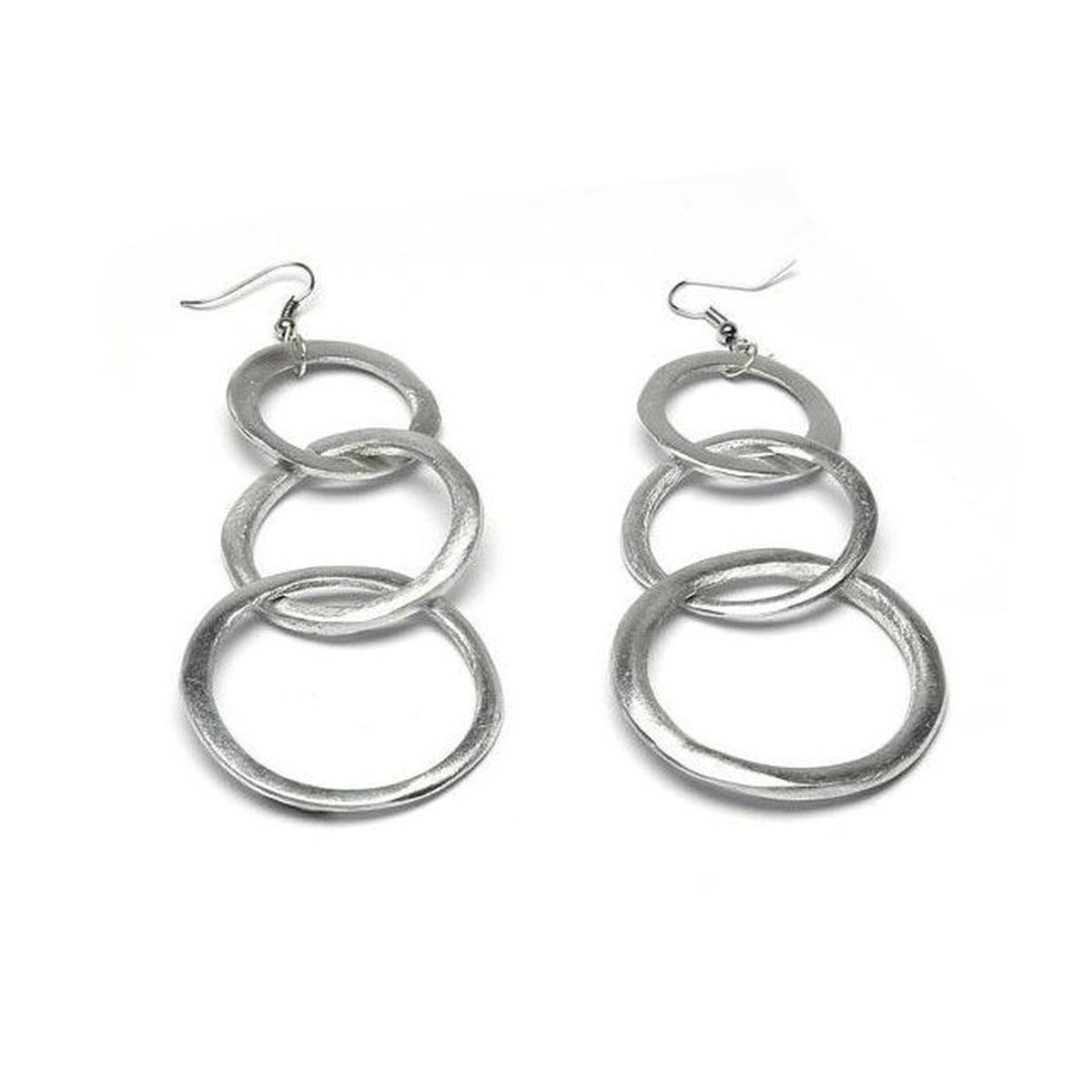 1. 3 circles pendant earrings Grey VestoPazzo