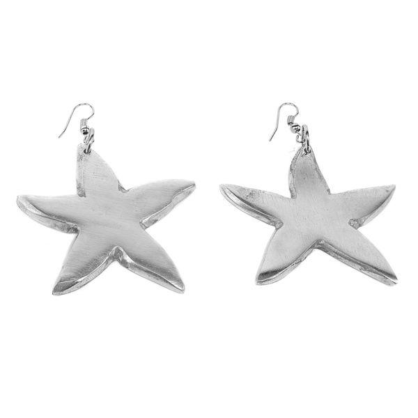 1. Starfish aluminum earrings Grey VestoPazzo
