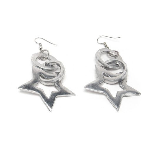 1. Star aluminum pendant earrings Aluminium VestoPazzo