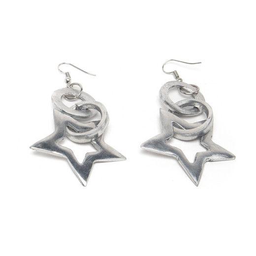 1. Star aluminum pendant earrings Aluminium VestoPazzo