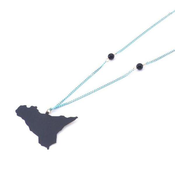 1. Sicily pendant long necklace black Antùra Accessori
