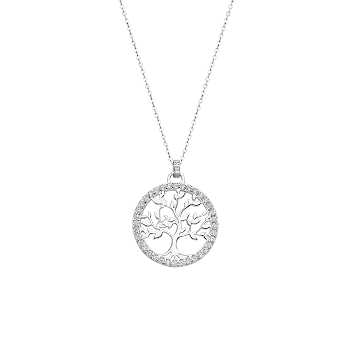 "NECKLACE  ""TREE OF VALUES "" Silver LOTUS Silver"