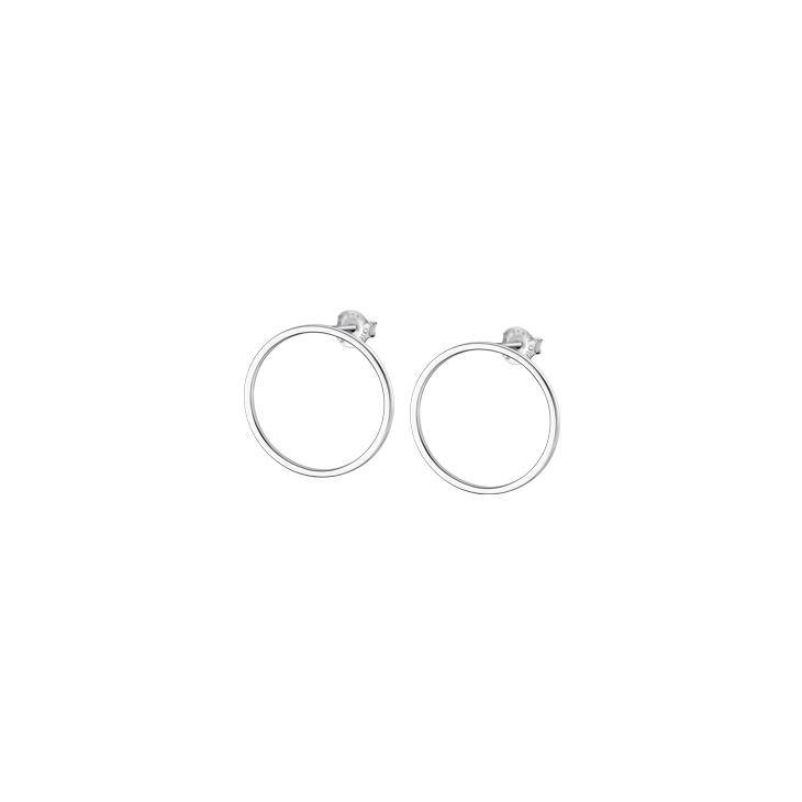 EARRINGS CIRCLE 2.5 CM Silver LOTUS Silver