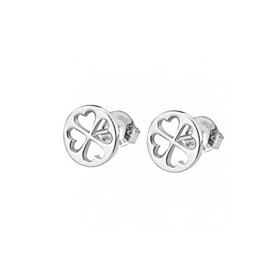 "EARRINGS ""FOUR-LEAF CLOVER"" Silver LOTUS Silver"